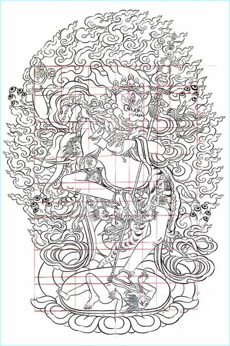 Thangka Simkhamukha (465x700, 262Kb)