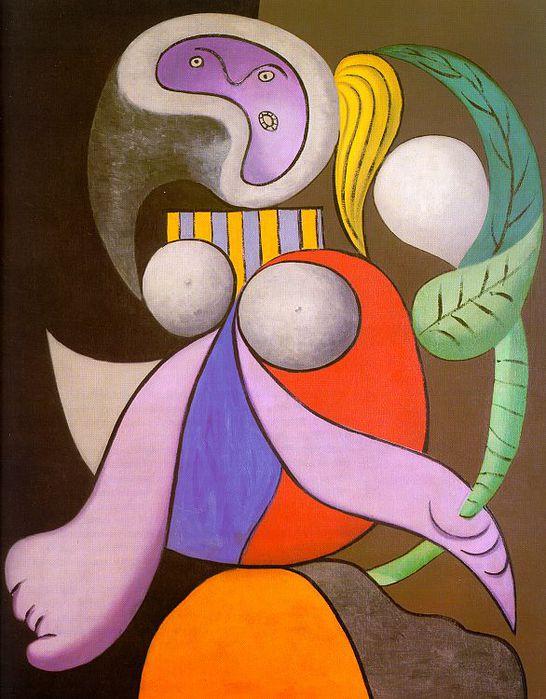 Picasso Femme a la fleur. 1932. 162 x 130 cm. Oil on canvas. (546x700, 72Kb)