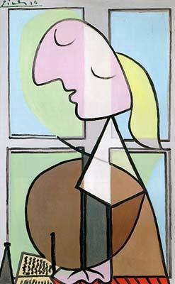 Picasso Femme encrivant. 1932. 45 x 29 cm. (247x400, 19Kb)