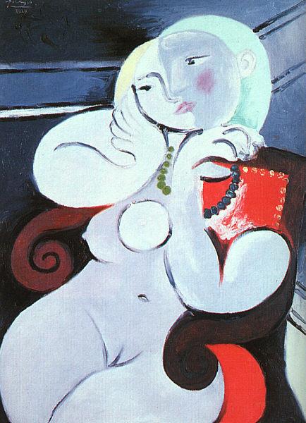 Picasso Femme nue dans un fauteuil rouge. 1932. 130.2 x 97 c (434x600, 78Kb)