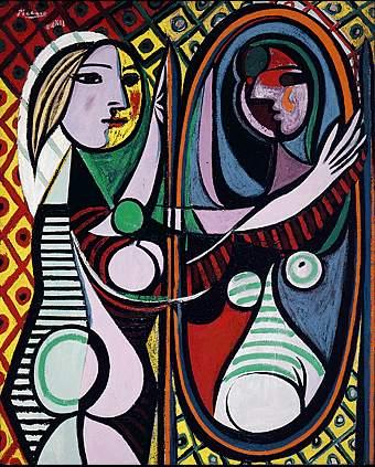 Picasso Jeune fille devant un miroir. 14-March 1932. 162.3 x (340x423, 46Kb)