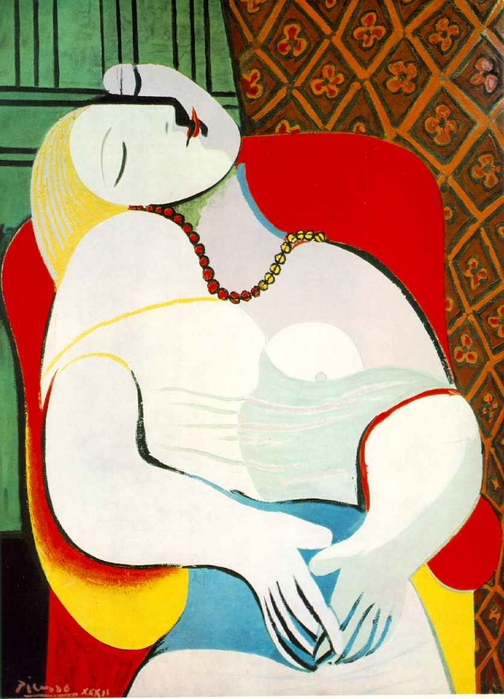 Picasso Le reve. 24-January 1932. 130 x 98 cm. Oil on canvas (504x700, 253Kb)
