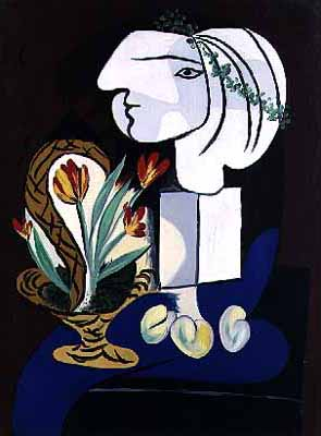 Picasso Nature morte aux tulipes. 1932. 131 x 98 cm. Oil on  (295x400, 17Kb)