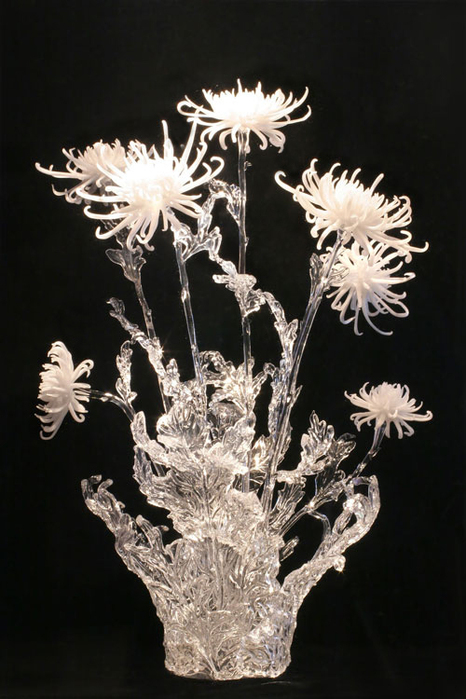 Белые хризантемы (466x700, 250Kb)