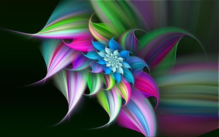 Картинки цветок разноцветный 6