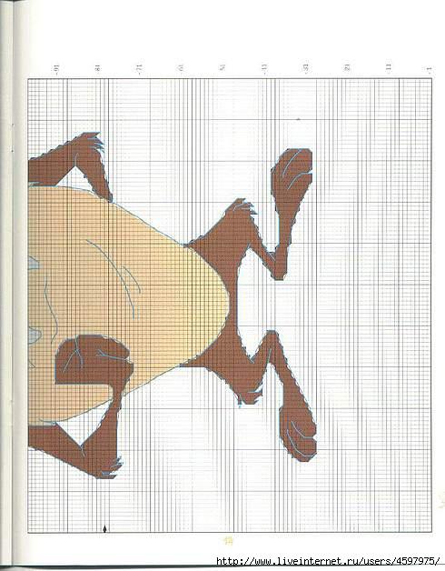Крючком пледы с мультяшками (14) (490x628, 164Kb)