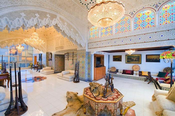 Роскошный арабский стиль в пентхаусе из Майами 6 (700x465, 142Kb)