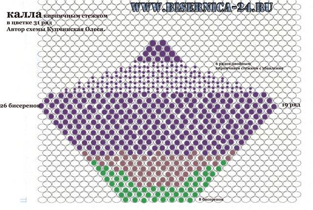 Схема Калла - кирпичным плетением 71072