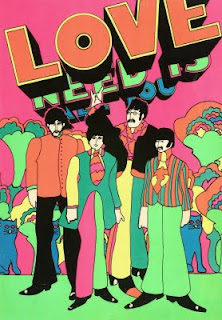 Beatles Yellow Submarine Blacklight Poster (222x320, 40Kb)