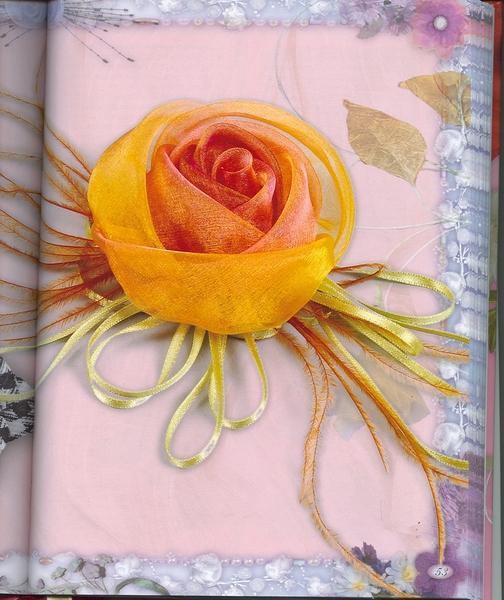 Розы из органзы своими руками мастер класс