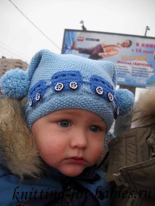 шапочка для мальчика.