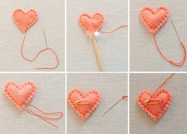 Маленькие сердечки своими руками фото