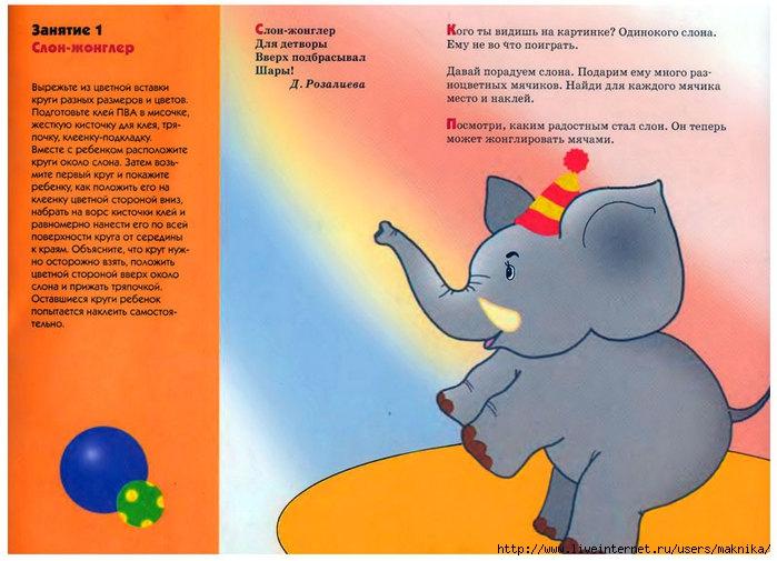 Развивающие занятия с детьми(бумажные аппликации).