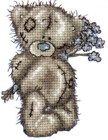 Мишки тедди - схемы вышивки крестиком - часть2
