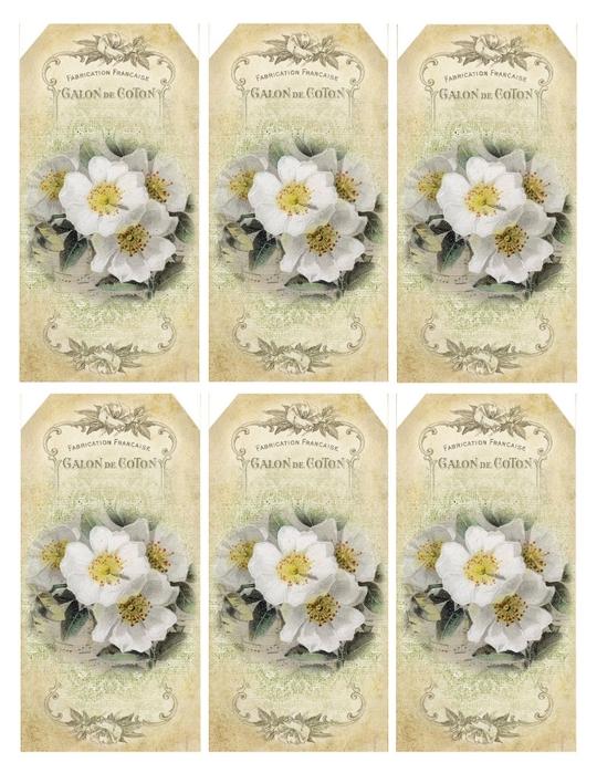 Надпись к подарку цветок 7