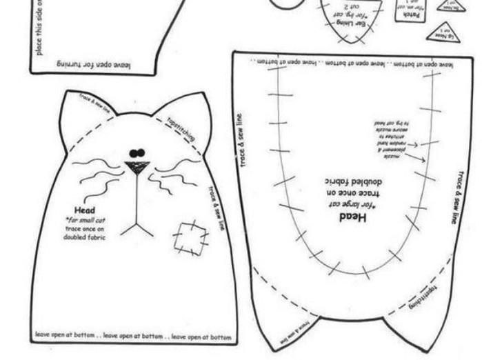 Подстилка для кота своими руками выкройки 65