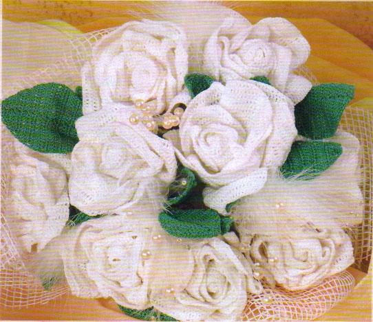 Икебана из красной розы