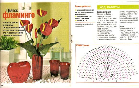 красные цветы антуриума (580x369, 108Kb)