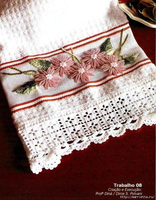 Как своими руками украсить махровое полотенце