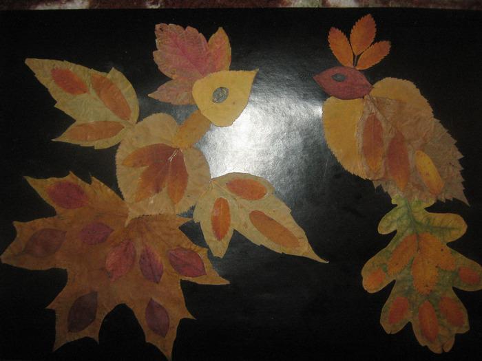 Своими руками из сухих листьев