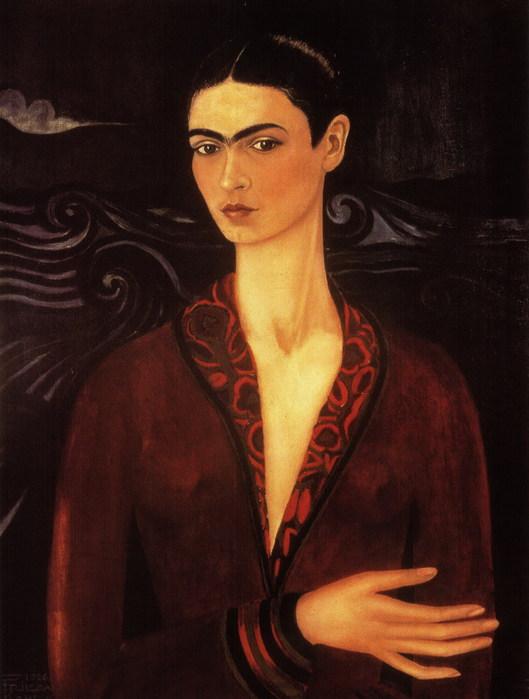 Автопортрет в бархатном платье, 1926 (529x700, 69Kb)