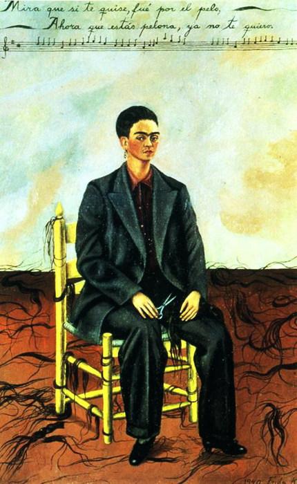 Автопортрет с обрезанными волосами, 1940 (430x700, 99Kb)