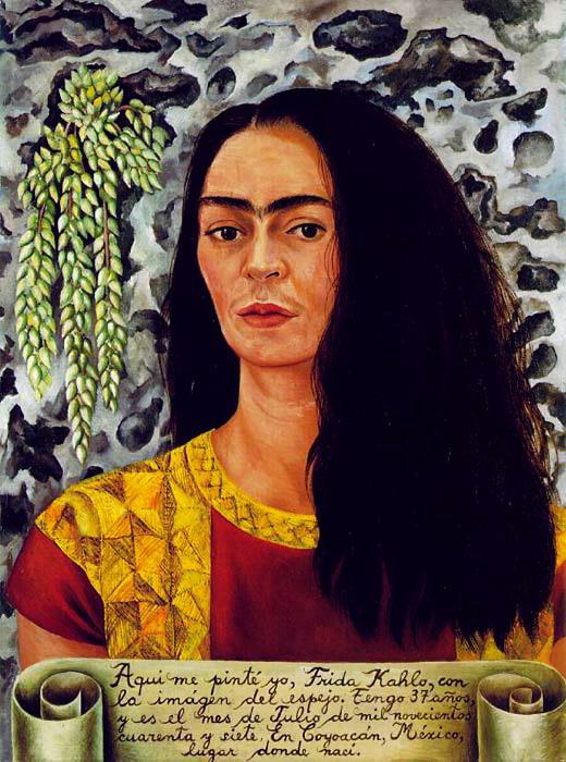 Автопортрет с распущенными волосами 1947 (520x700, 119Kb)