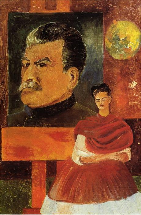 Автопортрет со Сталиным 1954 (461x700, 142Kb)