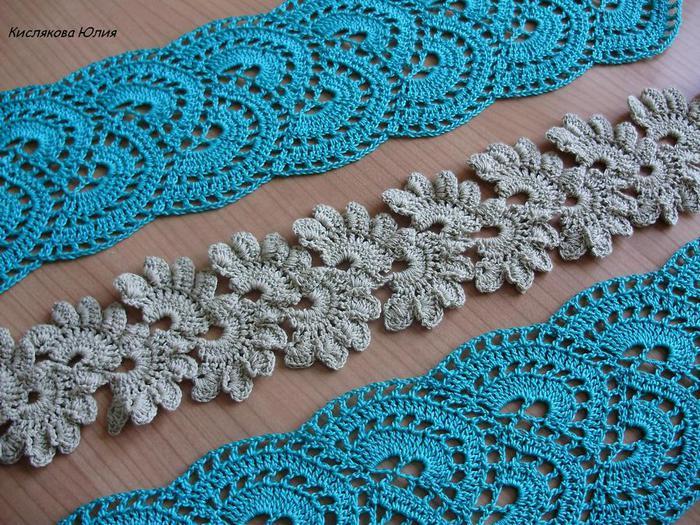 Кружевное вязание крючком фото
