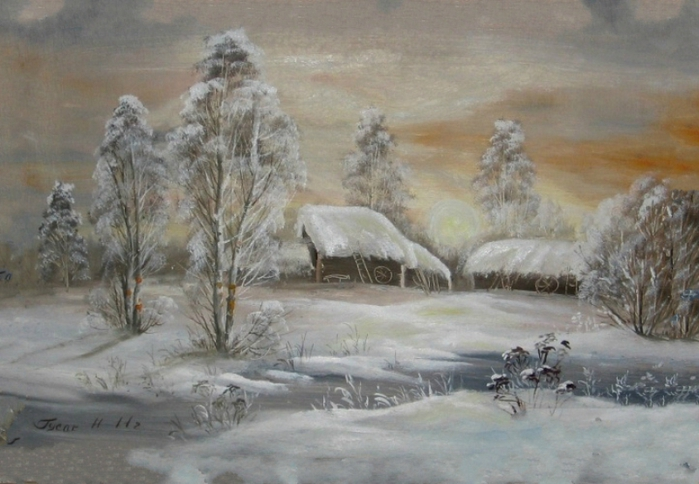 снег у русских художников парню