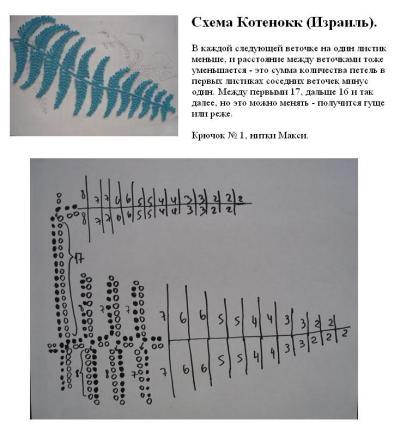 爱尔兰花边:针织蕨类植物的叶子(基本上全了) - maomao - 我随心动