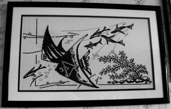 рыбки монохром