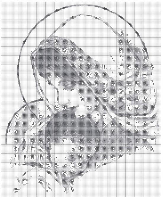 Картина для вышивки с младенцем