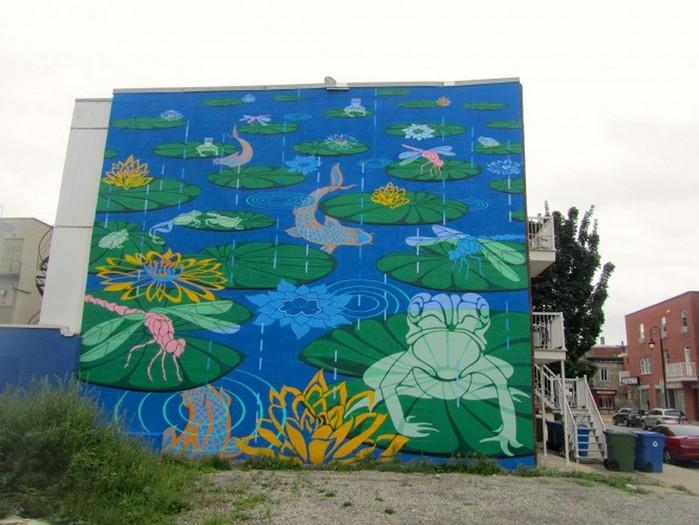 Граффити стрит-арт художника Roadsworth 16 (700x525, 96Kb)