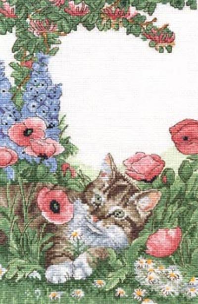 Схемы для вышивки - кошки.