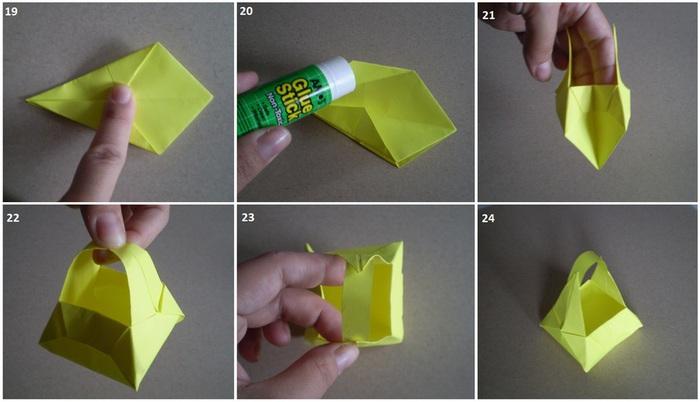 Как самому сделать легко корзинку из бумаги