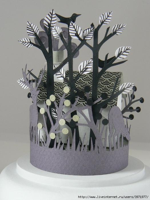 объемные деревья из бумаги