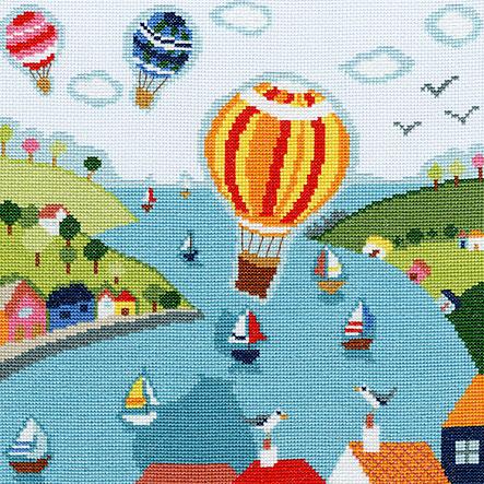 Схема вышивки крестом воздушного шара