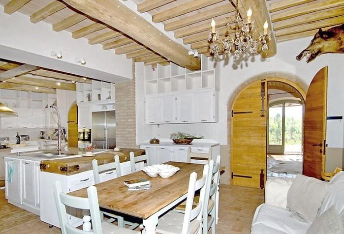 Солнечный тосканский стиль интерьера гостиницы Conti di San Bonifacio 8 (700x476, 103Kb)