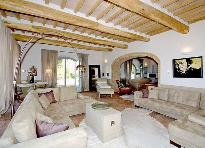 Солнечный тосканский стиль интерьера гостиницы Conti di San Bonifacio 10 (700x504, 101Kb)