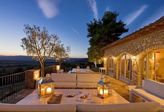 Солнечный тосканский стиль интерьера гостиницы Conti di San Bonifacio 17 (700x476, 101Kb)
