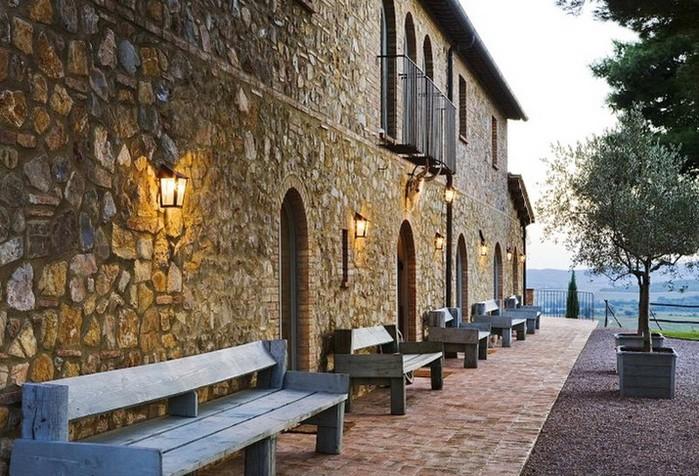 Солнечный тосканский стиль интерьера гостиницы Conti di San Bonifacio 19 (700x476, 136Kb)