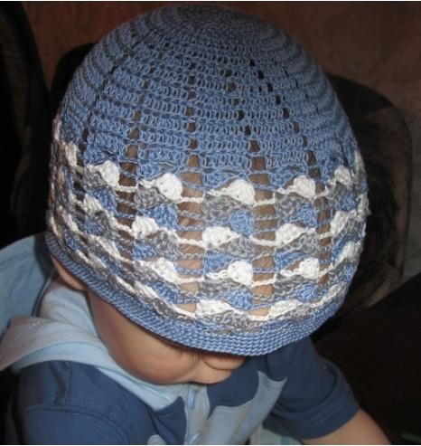 Ажурная летняя шапочка для