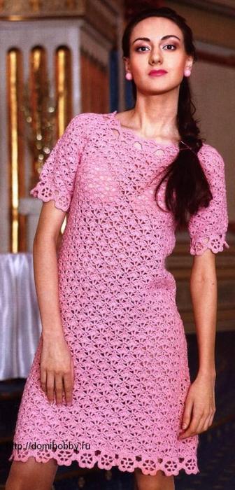вязаное-платье-крючком (336x700, 303Kb)