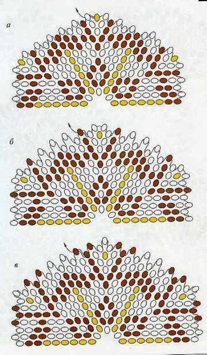 салфетки из бисера мозаичное плетение мк - Сайт о бисере.