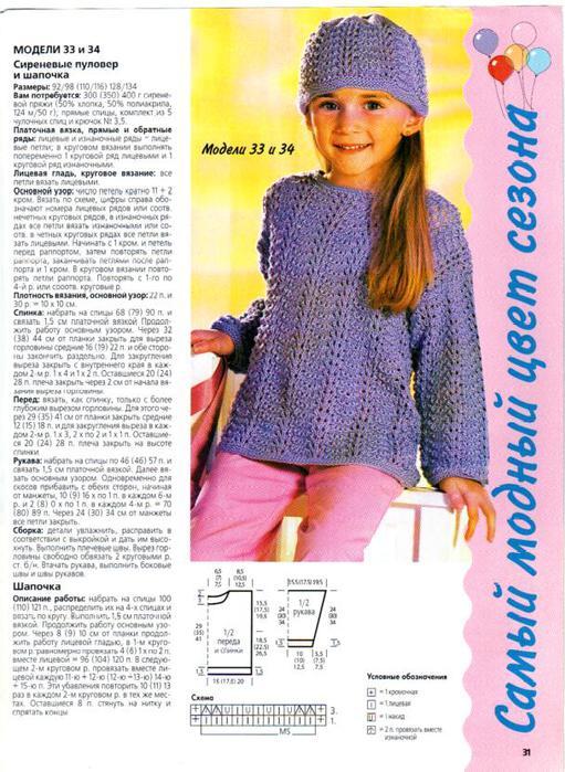 Вязание спицами модели для девочек