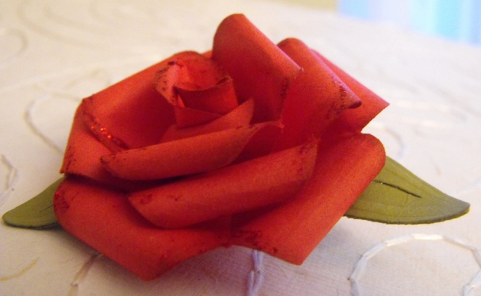Как объемную розу своими руками