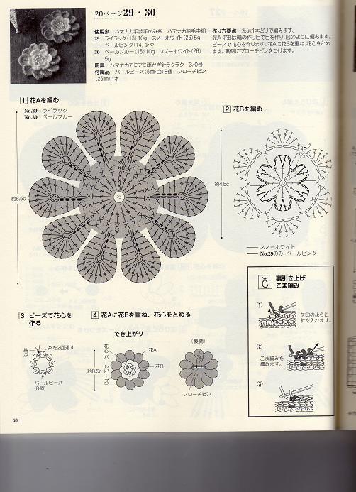 Объемные цветы крючком схемы. вязание объемных цветов крючком.