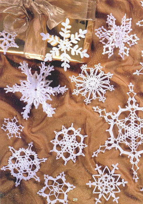 Вязаные снежинки