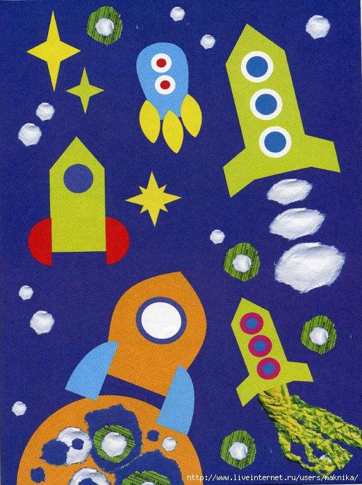 Детски поделки на тему космос
